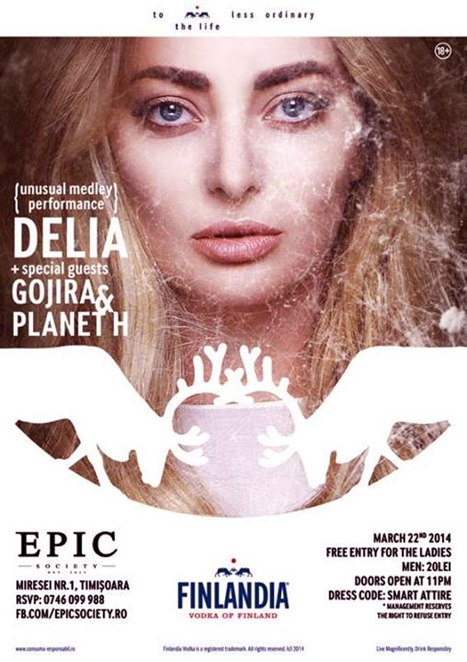 Concert delia in club epic society yes timisoara for Club epic timisoara