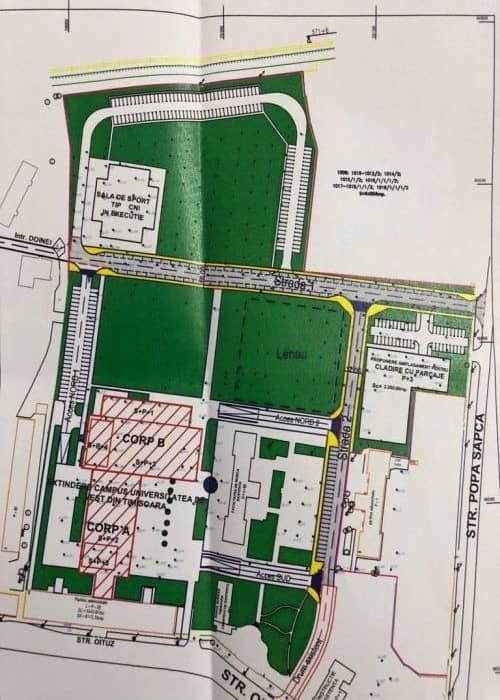 Plan cadastral strazi noi Timisoara
